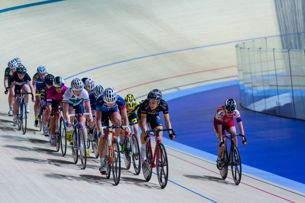 Cycling in Derby Arena